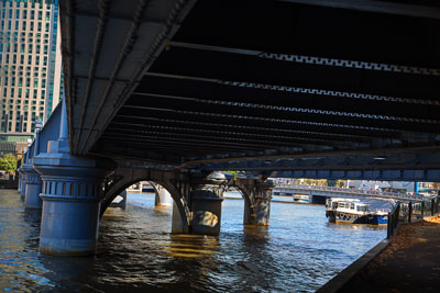 Thumbnail image of Underside of old railway bridge over the Yarra...