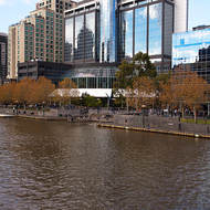 Southbank on the Yarra river.