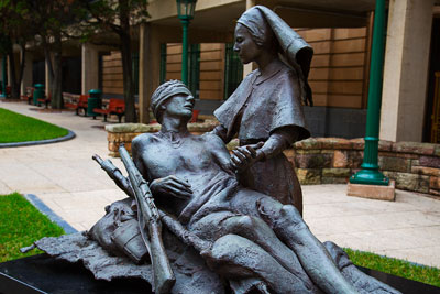 Thumbnail image ofStatue in ANZAC Square.