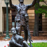Statue in ANZAC Square.