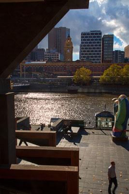 Thumbnail image ofAfternoon sun on the Yarra River from Southbank.