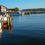 Ambleside ferry terminal on Lake Windermere.