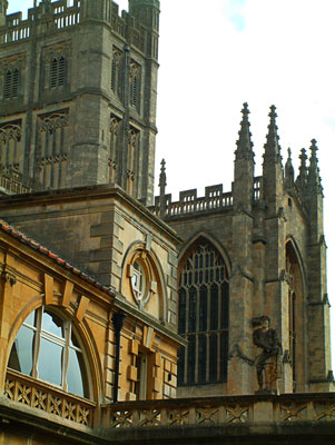 Thumbnail image ofBath Abbey viewed from the Roman baths.