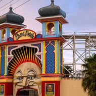 A mouthful of teeth at Luna Park.