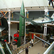 Inside the Imperial War Museum.
