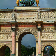 The Arc de Triomphe de Carrousel.