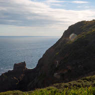Looking west over Bass Strait and the Cape Schanck lighthouse.