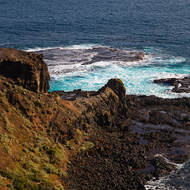 Looking south over Bass Strait from the Cape Schanck Lighthouse reserve.