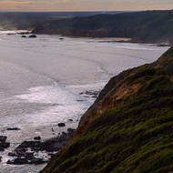 The south-west side of Mornington Peninsula from the Cape Schanck lighthouse reserve signal tower lookout.