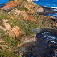 The rocky point of Cape Schanck from the top of the lighthouse.