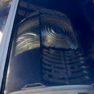The rotating Fresnel lens of Cape Schanck lighthouse.