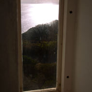View west from a window in the tower of Cape Schanck lighthouse.