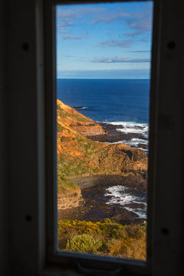 Thumbnail image of View south of Bass Strait and Cape Schanck from...