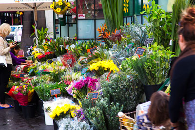 Thumbnail image of Flower stall at the Queen Victoria Market.