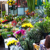 Flower stall at the Queen Victoria Market.