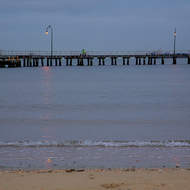 Port Melbourne pier, early morning fishermen try their luck.