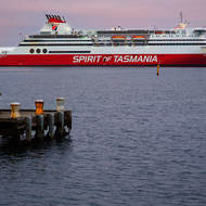The Spirit of Tasmania vehicular ferry from Port Melbourne pier.