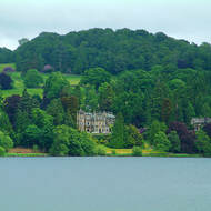 Stately manor on the shore of Lake Windermere.
