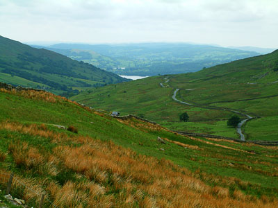 Thumbnail image of Winding road in the dales of the Lake District.