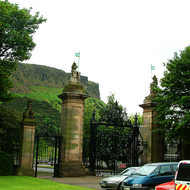 Gates of the Palace of Holyroodhouse.
