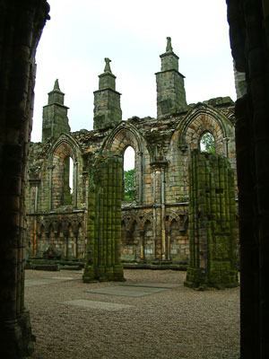 Thumbnail image of The ruins of of Holyrood Abbey.
