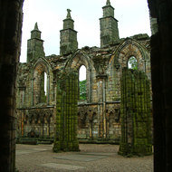 The ruins of of Holyrood Abbey.