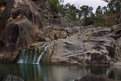 Thumbnail image of Coomba Falls over the granites into the waterhole...