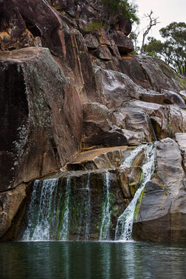 Thumbnail image of Coomba Falls trickling down the ancient granites.