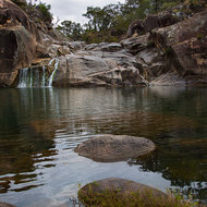 Coomba waterhole, crystal clear but cold.