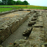 Remants of a Roman Fort along Hadrian's Wall.
