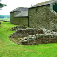 Old and relatively new at and old Roman Fort along Hadrian's Wall.