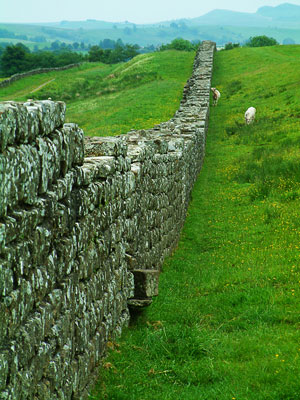 Thumbnail image of Double line of Hadrian's Wall stretches over the...