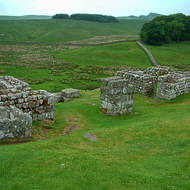 Roman Fort occupies a commanding position along Hadrian's Wall.