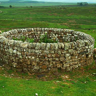 Looks old but is actually a 19th century well along Hadrian's Wall.