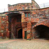 The wall of Carlisle Castle.