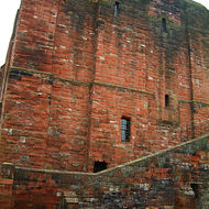 Staunch central structure in Carlisle Castle.