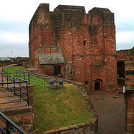 Inside the grounds of Carlisle Castle from the surrounding wall.