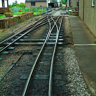 Terminus track work and crossover of the narrow gauge (15