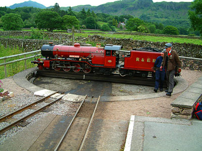 Thumbnail image ofTurntable at the Dalegarth terminus of the Ravenglass...