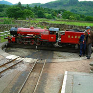 Turntable at the Dalegarth terminus of the Ravenglass & Eskdale Railway.