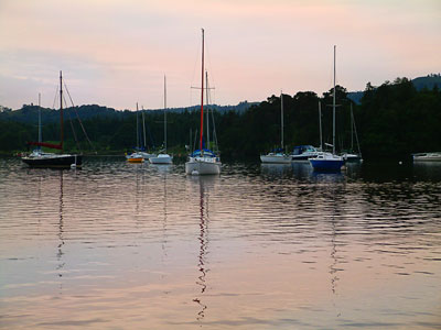 Thumbnail image ofSunset over sailboats at rest at the northern...