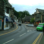 Street scene in the Ambleside village.