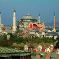 Hagia Sophia, once a church, then a mosque and now a museum.