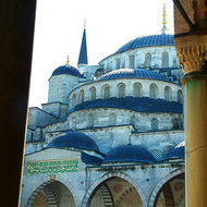Easy to see why the Sultan Ahmet Mosque is called the Blue Mosque.