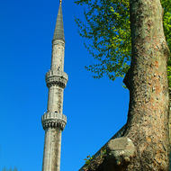 Minaret of the Sultan Ahmet Mosque, the Blue Mosque.