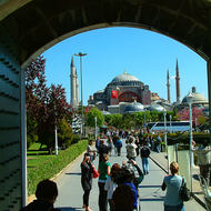 Hagia Sophia from Sultan Ahmet Mosque.