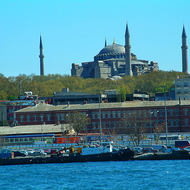 Hagia Sophia from the ferry boat terminal.