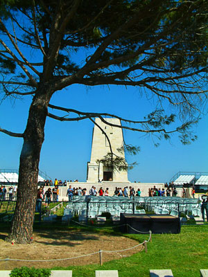 Thumbnail image ofThe lone pine at the Lone Pine cemetery and memorial...