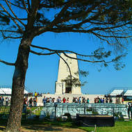 The lone pine at the Lone Pine cemetery and memorial to the ANZACs on the Gallipoli (Turkish Gelibolu) peninsula.