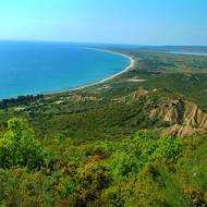View northward of the Gallipoli (Turkish Gelibolu) peninsula.